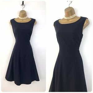 Marks and Spencer size 10 Navy Blue Stretch Fit & Flare Formal Workwear Dress