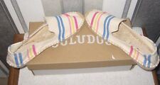 Soludos Candy Stripe Slipper Espadrilles smoking slippers UK small Size 4