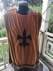 Deep Orange Velvet Musketeer/Pirate/Medival Tunic #0306 W / Pants