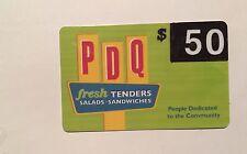 Summer Deal PDQ Restaurant Gift Card Value $50 Fresh Tenders Salads Sandwiches