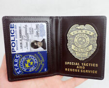 RESIDENT EVIL S.T.A.R.S. DEP RACCOON LEON BADGE ID WALLET HOLDER