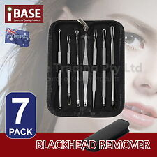 7 PCS BLACKHEAD REMOVER PIMPLE ACNE BLEMISH WHITEHEAD COMEDONE EXTRACTOR KIT SET
