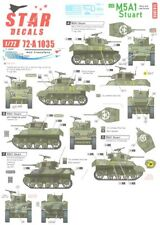 Star Decals 1/72 M5A1 Stuart Tank in Normandy & France 1944