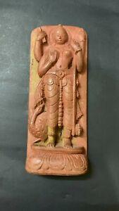 Medieval Carved Wood Statue Sixth Century Goddess Woman Buddhist Art