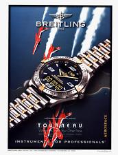 BREITLING TOURNEAU AEROSPACE WATCH VINTAGE PRINT AD 1998