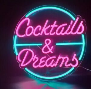 Cocktails and Dreams LED Acrylic Neon Sign