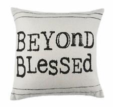 Beyond Blessed Throw Pillow 16 x 16 NWT Ganz Farmhouse Prim Country Decor