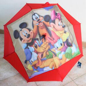 Ombrello  Cassici Disney Originale Perletti Bimbo Bimba Automatico