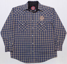 West Coast Choppers Jesse James Snap Front Western Shirt Mens Size Medium