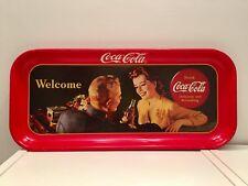 🔴 Raro vassoio Coca cola dalla forma inusuale Coke tin tray