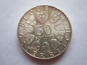 Münze Österreich 50 Schilling 1973