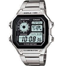 Casio AE1200WHD-1AV, Digital Watch, Chronograph, Alarm, World Time,10 Yr Battery