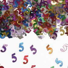 Konfetti für Geburtstag: 1 2 3 4 5 6 7 8 9 10 18 20 25 30 40 50 60 70 80 90 100