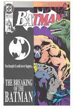 DC Comics BATMAN 497 KEY, BANE ISSUE - Bane Breaks Batman Back