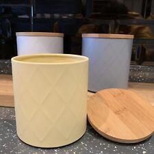 Set Of 3 Embossed MetalTea Coffee Sugar Canisters Jars Storage Canisters Pots