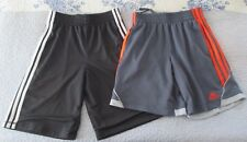 2 PAIRS- ADIDAS BOYS YOUTH ATHLETIC SHORTS. SIZE M. PREOWNED. (6348)