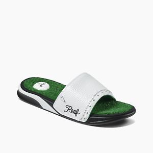 Mens Reef Mulligan Slides / Sandals - Green - Sizes 9-10