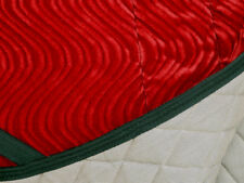 """PRETTY RED VELVET WAVE"" QUALITY DRESSAGE SADDLE PAD- one of a kind"