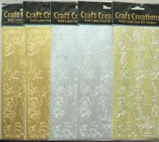 5 Sheets of Self Adhesive Vinyl Stickers Gold & Silver Ladies Fashion NEW