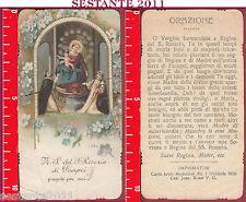 1419 SANTINO HOLY CARD MADONNA VERGINE DEL ROSARIO DI POMPEI MEDIOLANI 1918