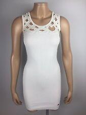 Señoras Pearl/Off White Bodycon Vestido por Lipsy talla 8 Reino Unido