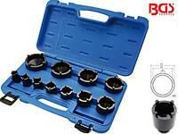 BGS 8265 11-tlg Satz Nutmutter Steckschlüssel Einsatz Nuss Zapfenschlüssel