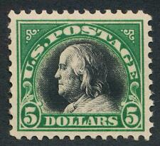 UNITED STATES 524 MINT NH VF $5 FRANKLIN GREEN