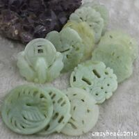 Wholesale Light Green 100% Natural A Jade Jadeite Pendant Circle Hand Carved A+
