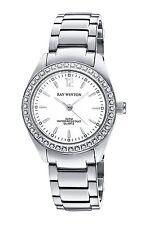 Ray Winton Women's WI0098 White Dial Silver Stainless Steel Bracelet Watch