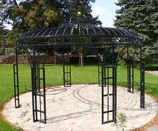 Pavillon aus massivem Stahl, Gartenhaus, Laube, Rosenpavillon,