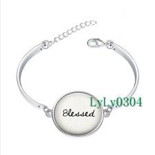 Blessed - Faith glass cabochon Tibet silver bangle bracelets wholesale
