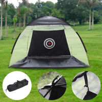 2M Foldable Golf Driving Cage Practice Hitting Net Indoor Outdoor Garden Trainer