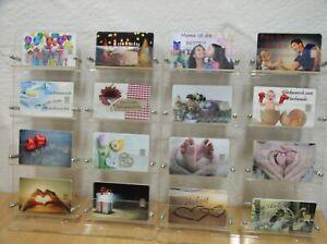 Silberbarren Valcambi 1 Gramm 999 Geschenkkarte Motivkarte  freie Wahl 18 Motive
