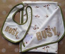 NWT Gymboree BUSY BEAVER Beaver Blanket 31 x 41 Blanket & Bib