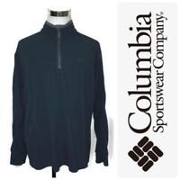 Columbia Onmi-Shade Fleece Jacket Men's Size XL Blue 1/4 Zip Pullover