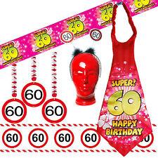 Geburtstagsdeko zum 60. Geburtstag Partyzubehör Dekoration  Verkehrsschild Deko