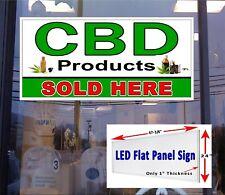 Cbd Products sold here Led Flat Panel illuminated window sign 48x24