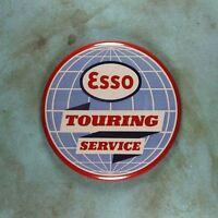 "Vintage Style Tin Sign Photo Fridge Magnet 2 1/4""  Esso Global Touring Service"