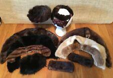 Vintage Mink Fur Hats Collars Cuffs Lot Estate