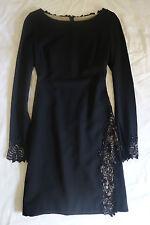 ~NWOT $3K LORENA SARBU BLACK BEADED LACE LONG SLEEVE DRESS (SOIREE READY!) ~ 4