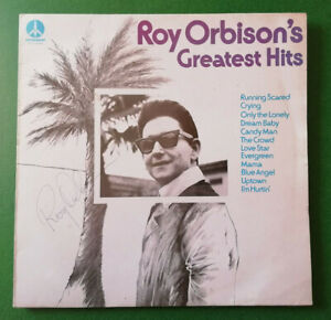 Genuine Hand Signed In Biro Roy Orbison Greatest Hits LP Monument MNT 64663