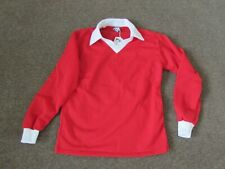 Vintage Red with White Collar Rombo Football Shirt with Inter Sport Tag 38 / 40