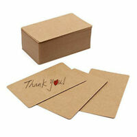 90x Kraft Paper Business Cards Blank Word Message Xmas Postcard DIY Gift Decor