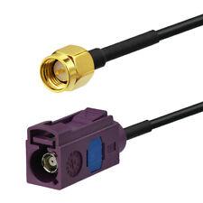 Superbat Fakra D Buchse to SMA Stecker RF Koax Verlängerung Kabel RG174 30CM