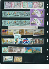 WORLDWIDE circa 1970s CAPTAIN COOK BICENTENNIAL large assortment MNH (11 scans)
