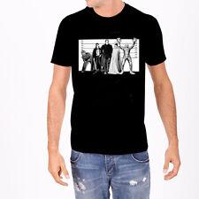 Rock Rebel Mens Frank Bolt Grey and Black Raglan T Shirt
