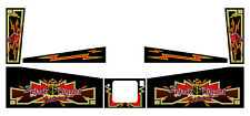 Complete Pinball Cabinet Decal & Side Blades Set for Black Knight 2000 Williams
