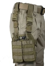 Tan MOLLE Tactical Leg Mag Pouch, 2 Detachable 5.56 Open Top Mag Pouches