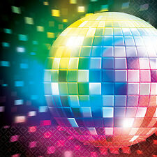 Disco Fever Servietten 16er-Set NEU - Partyartikel Dekoration Karneval Fasching
