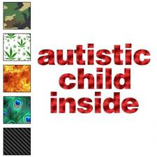 Autistic Child Inside Decal Sticker Choose Pattern + Size #1233